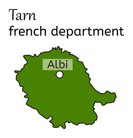 Tarn french department map on white in vector Illustration