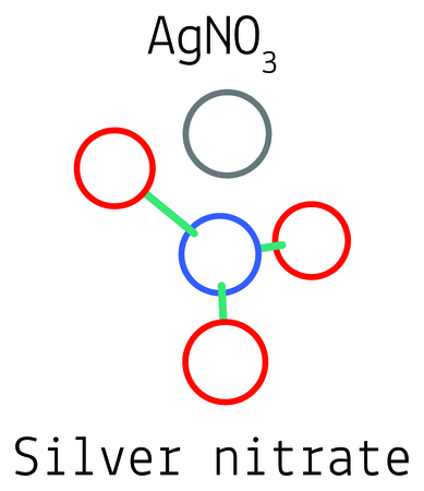 Silver Nitrate Agno3 Molecule Royalty Free Cliparts Vectors And