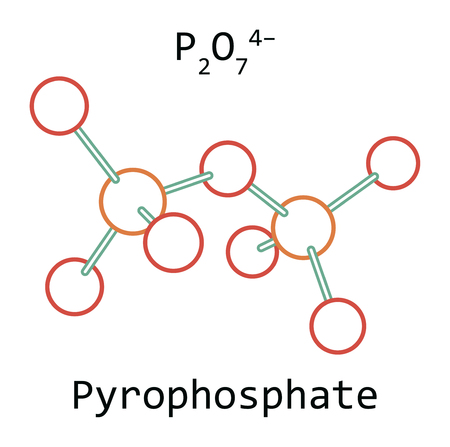 molecule Pyrophosphate isolated on white