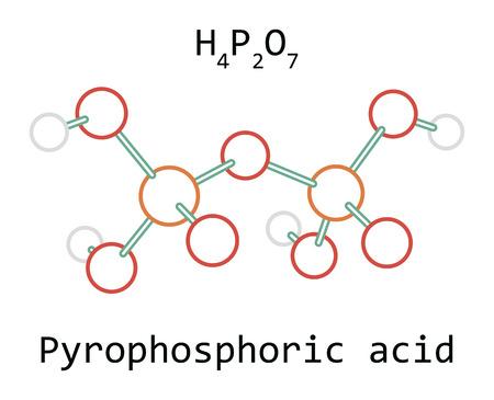 molecule Pyrophosphoric acid H4P2O7 Illustration