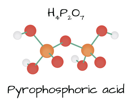 Molecule Pyrophosphoric acid H4P2O7