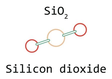 Molecule SiO2 Silicon dioxide