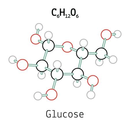 C6H12O6 molécula de glucosa