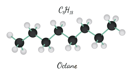 C8H18 octane molecule