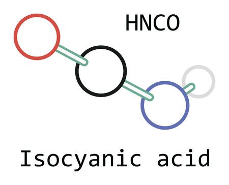 molecule HNCO Isocyanic acid