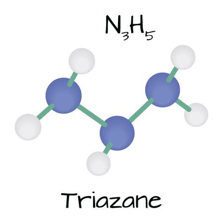 molecule N3H5 Triazane