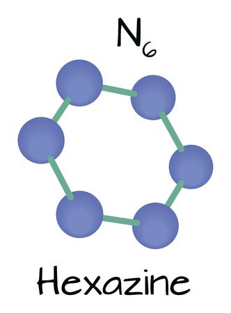 molecule N6 Hexazine Illustration