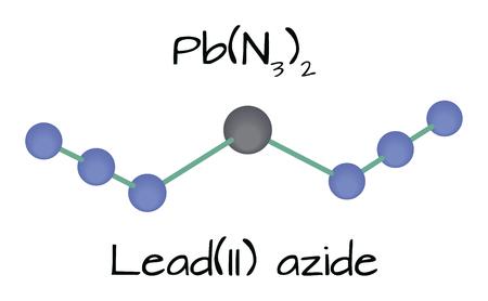 molecule Lead azide PbN6