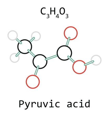 molecule Pyruvic acid C3H4O3