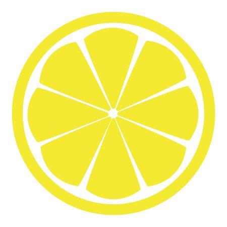 Lemon slice, vector isolated pattern, yellow tropical fruit