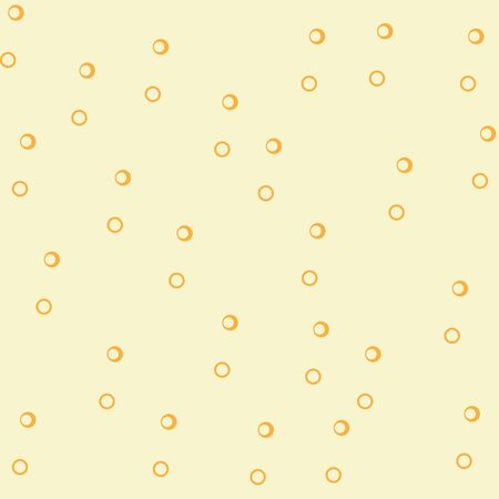 Abstract seamless yellow pattern, many circles, vector background