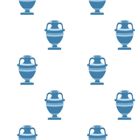 greek decorative ancient amphora, jug. Seamless pattern, vector illustration Illusztráció