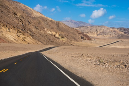 Scenic road and landscape in Death valley national park, USA