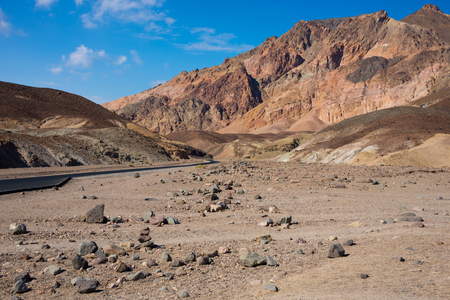 Geological formations and landscape in Death valley national park, USA