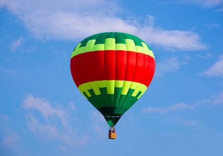 Colorful hot air balloon flying in the sky