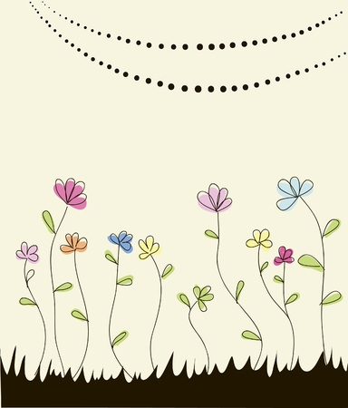 Retro Flower Vector