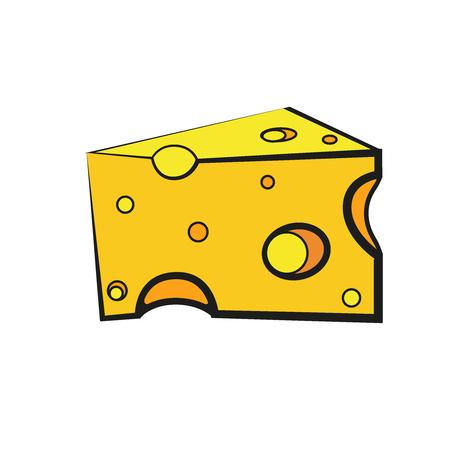 Simple things cartoon vector illustration: cheese  イラスト・ベクター素材