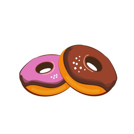 Simple things cartoon vector illustration: donuts