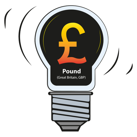 Pound - United Kingdom, GBP - vector currency symbol