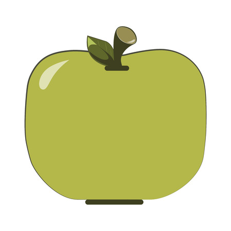 Flat vector green apple icon (Whole Green Apple) Ilustracja