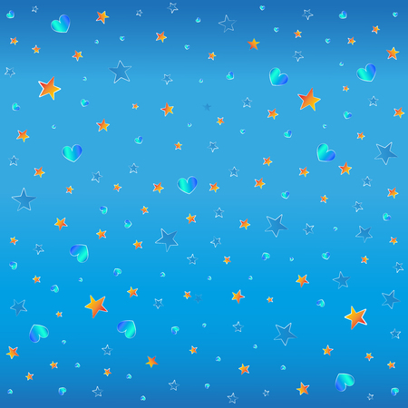 stelle blu e arancioni