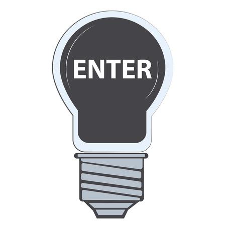 Enter in lamp, flat vector illustrator Illustration