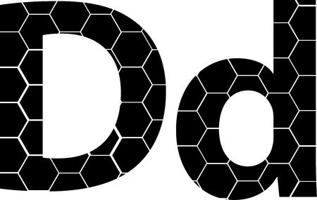 Simple vector alphabet of honeycombs, vector icons isolated on white - D Illusztráció