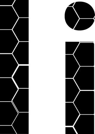 Vector icons isolated on white - i Illusztráció