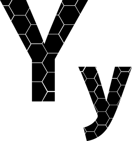 vector icons isolated on white - Y Illusztráció