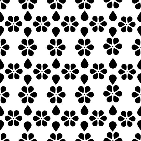 Pattern Cute vintage floral holiday cards set. 8 shape with flowers and leaves. Beautiful black / white background cards for greeting, invitation