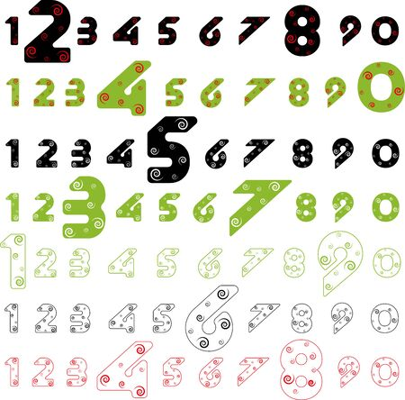 numeral alphabet. Colorfull polygonal letter