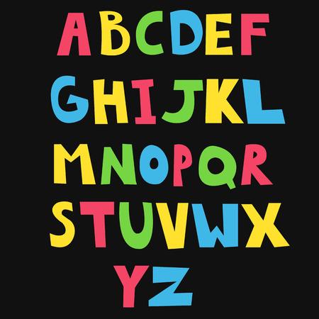 handdrawn: Hand-drawn funny vector alphabet