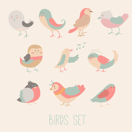 birdsong: Cute and funny bird set