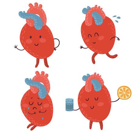 Grappige set van schattige doodle harten