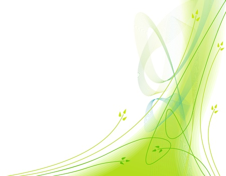 Abstract ecological green background with motion lines Illustration