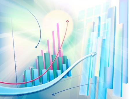 volatility: Ilustraci�n moderno, vector din�mico con el gr�fico de negocios abstracta