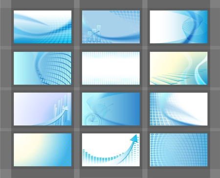 business card design: Horizontal vector backgrounds for business cards Stock Photo