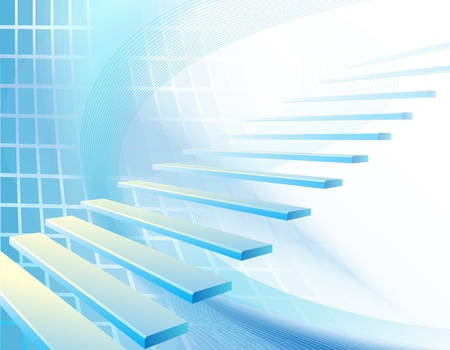 Abstract background with stair