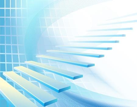 weightless: Resumen de fondo con la escalera
