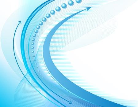 Blu e bianco sfondo astratto business con le frecce Vettoriali