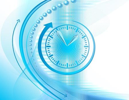 gestion documental: De fondo Resumen de negocios con el reloj y las flechas Vectores