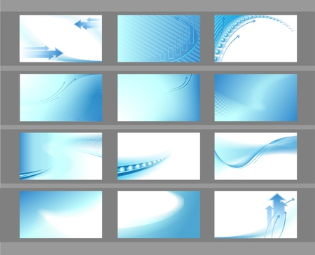 air flow: Horizontal vector backgrounds for business cards Illustration