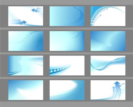 visitekaartje: Horizontale vector achtergronden voor visitekaartjes