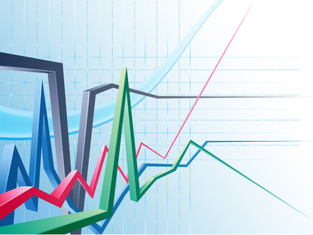 Abstract modern business background with graph