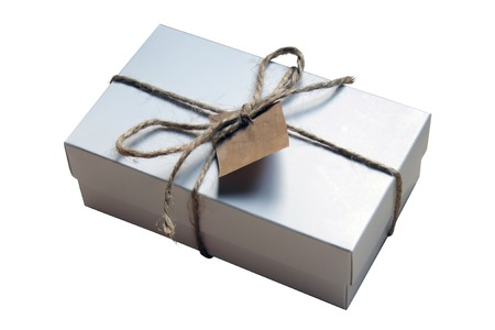Gift in a white carboard giftbox