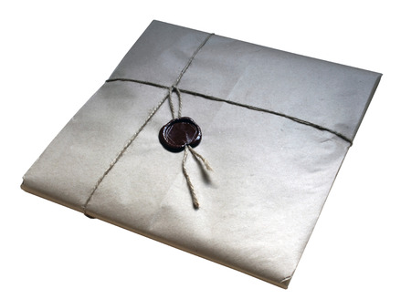 Gift packaging paper with a wax seal
