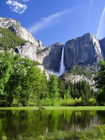 Yosemite falls. Yosemite national park. California. USA