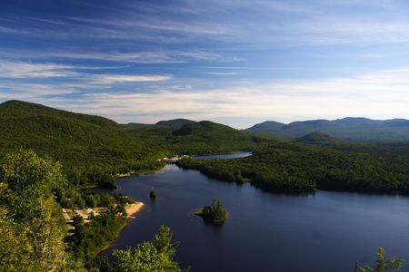 Quebec wilderness: Lac Monroe in Mont-Tremblant national park, Quebec, Canada in summer photo