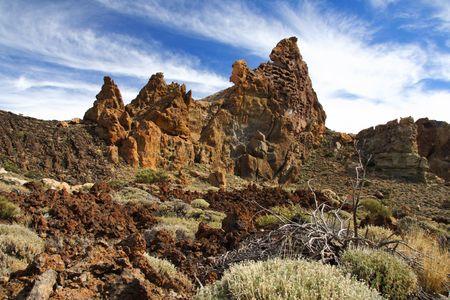 volcanic landscape: Volcanic landscape, Teide, Tenerife, Spain