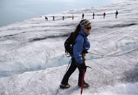 jostedal: Trekking on the Jostedal glacier, Norway